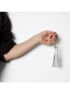 Porte-clés XL Beige bleuté