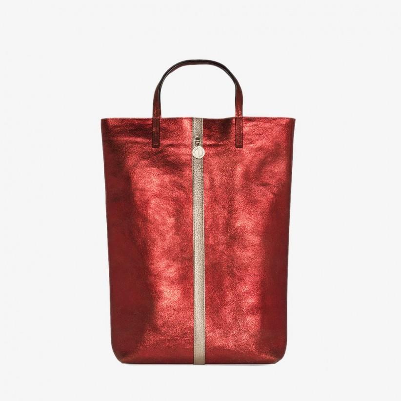 Sac Jerry rouge, cuir de vachette - Sainte Isaure f3ba1e977b4