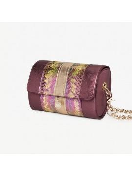 Sac Renée XL violet – cuir de python