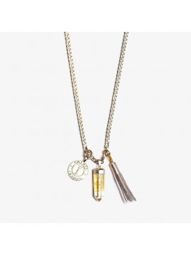 Golden Pompon Necklace